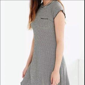 Urban Outfitters BDG Black Lettuce Edge Dress